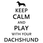 Keep Calm And Play With Your Dachshund