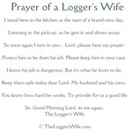 Prayer of a Logger's Wife