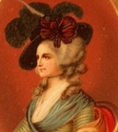 Colonial Lady In Red