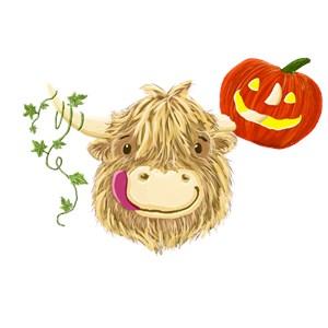 Wee Hamish Highland Cow Halloween