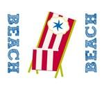 Fav Beach Chairs - red stripes