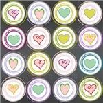 Badge of Hearts CHalk Board