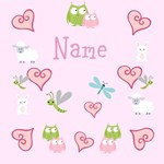 Personalize it! Pinky Owl Friends