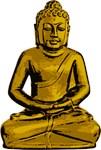 Gold Buddha Statue Icon