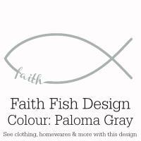 Paloma Gray Faith Fish Design