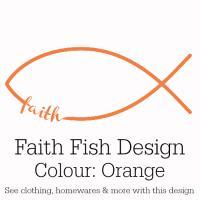 Orange Faith Fish Design