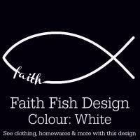 White Faith Fish Design