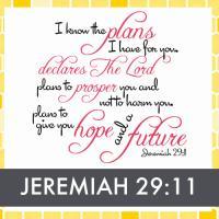 Jeremiah 29:11 Verse Design