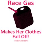 Race Gas Makes Her Clothes Fall Off