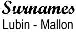 Vintage Surname - Lubin - Mallon