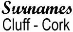 Vintage Surname - Cluff - Cork