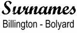 Vintage Surname - Billington - Bolyard