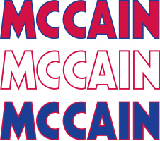 McCain Red White and Blue
