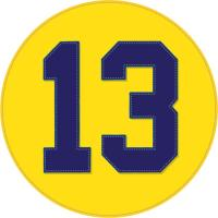 Vintage 'Championship 13' (w/stitched appeal)