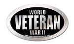 world war 2 veteran oval sticker