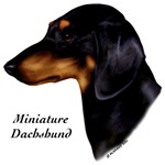 Min. Smooth Dachshund items with black/tan design