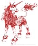 Warm Ochre and Sepia Dappled Unicorn