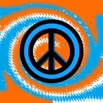 Peace Sign Orange & Blue