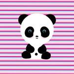 Panda on Pink Teal