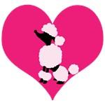 Poodle Pink Black