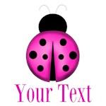Personalizable Purple Ladybug