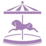 Purple Carousel Pony