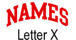 Names (red) Letter X