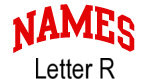 Names (red) Letter R