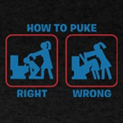 How to puke