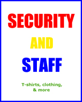 EVENT & SECURITY STAFF T-SHIRTS & GIFTS