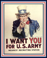 I WANT YOU FOR THE U.S. ARMY WORLD WAR 2 T-SHIRTS