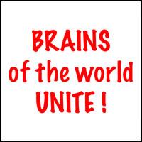 BRAINS UNITE T-SHIRTS & GIFTS