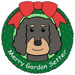 Gordon Setter Christmas Ornaments