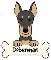 Personalized Doberman Pinscher