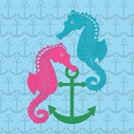 Sparkle Seahorse and Anchor