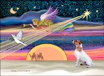 CHRISTAMS STAR<br>& Jack Russell Terrier