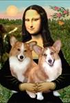 MONA LISA<br>& 2 Welsh Corgis