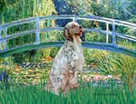 LILY POND BRIDGE<br> & English Setter