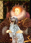 QUEEN ELIZABETH<br> & English Setter