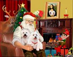 SANTA AT HOME<br>& West Highland Terriers #1
