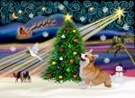 CHRISTMAS MAGIC<br>& Welsh Corgi (Pem)#7b
