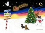 CHRISTMAS SIGNS<br>& 2 Dachshunds