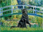 LILY POND BRIDGE<br>&Flat Coated Retriever