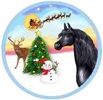 Black Arabian Horse in<br>The Take Off #1