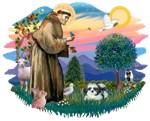 St. Francis #2 & Shih Tzu (A)