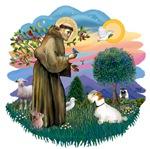 St. Francis #2 &<br> Sealyham Terrier