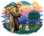 St. Francis #2 &<br> Schnauzer (Miniature #1)