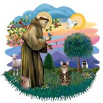 St. Francis (ff) with<br>a Brown Tabby Cat