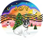 CHRISTMAS MUSIC #2<br>Black/White French Bulldog