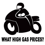 Motorbike graphic WHAT HIGH GAS PRICES?